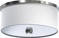 Picture for category Flush Mounts 2 Light With Satin Nickel Finish Medium Base Bulbs 15 inch 120 Watts