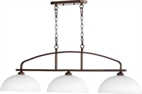 Picture for category Island Lighting 3 Light With Oiled Bronze Finish Medium Base Bulbs 13 inch 300 Watts