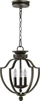 Picture for category Pendants 3 Light With Old World Finish Candelabra Base Bulb Type 13 inch 180 Watts