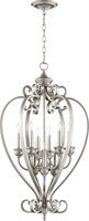 Picture for category Pendants 9 Light With Classic Nickel Finish Candelabra Base Bulbs 20 inch 540 Watts