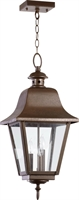 Picture for category Outdoor Pendant 3 Light With Oiled Bronze Finish Candelabra Base Bulbs 11 inch 180 Watts