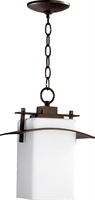 Picture for category Outdoor Pendant 1 Light With Oiled Bronze Finish Medium Base Bulbs 8 inch 100 Watts