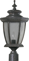 Picture for category Outdoor Post Light 1 Light With Baltic Granite Finish Medium Base Bulbs 10 inch 100 Watts
