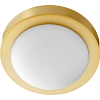 Picture for category Flush Mounts 1 Light With Aged Brass Finish Medium Base Bulb Type 9 inch 60 Watts