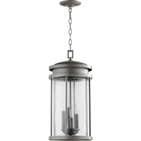 Picture for category Outdoor Pendant 4 Light With Graphite Finish Candelabra Base Bulbs 10 inch 160 Watts