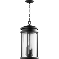 Picture for category Outdoor Pendant 4 Light With Noir Finish Candelabra Base Bulbs 10 inch 160 Watts