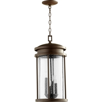 Picture for category Outdoor Pendant 4 Light With Oiled Bronze Finish Candelabra Base Bulbs 10 inch 160 Watts