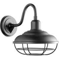 Picture for category Wall Sconces 1 Light With Noir Tones Finish Medium Base Bulb Type 12 inch 100 Watts