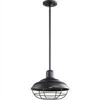 Picture for category Outdoor Pendant 1 Light With Noir Finish Medium Base Bulb Type 12 inch 100 Watts
