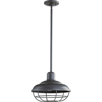 Picture for category Outdoor Pendant 1 Light With Old World Finish Medium Base Bulbs 12 inch 100 Watts