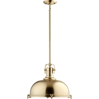 Picture for category Pendants 1 Light With Aged Brass Finish Medium Base Bulb Type 17 inch 100 Watts
