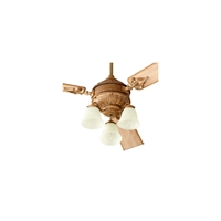 Picture for category Fan Light Kits 3 Light With French Umber Finish Candelabra Base Bulbs 13 inch 180 Watts