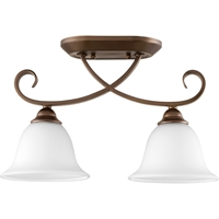Picture for category Flush Mounts 2 Light With Oiled Bronze Finish Medium Base Bulbs 7 inch 200 Watts
