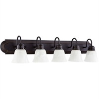 Picture for category Bathroom Vanity 5 Light With Old World Finish Medium Base Bulbs 36 inch 500 Watts