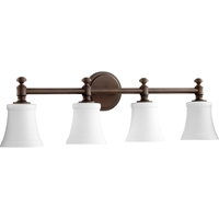 Picture for category Bathroom Vanity 4 Light With Oiled Bronze Finish Medium Base Bulbs 30 inch 400 Watts