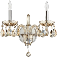 Picture for category Wall Sconces 2 Light With Chrome Finish Candelabra Base Bulbs 14 inch 120 Watts