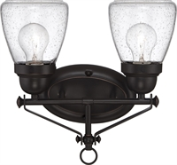 Picture for category Bathroom Vanity 2 Light With Sudbury Bronze Finish E12 Incandescent 13 inch 120 Watts
