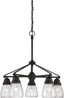 Picture for category Chandeliers 5 Light With Sudbury Bronze Finish E12 Incandescent 23 inch 300 Watts