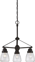 Picture for category Chandeliers 3 Light With Sudbury Bronze Finish E12 Incandescent 22 inch 180 Watts