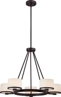 Picture for category Chandeliers 5 Light With Venetian Bronze Tones Finish G9 Halogen 27 inch 300 Watts