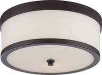 Picture for category Flush Mounts 2 Light With Venetian Bronze Finish E12 Incandescent 14 inch 200 Watts