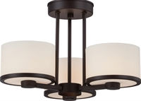 Picture for category Semi Flush 3 Light With Venetian Bronze Finish G9 Halogen Etched Opal Glass 15 inch 120 Watts