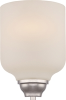 Picture for category Bathroom Vanity 1 Light With Polished Nickel Finish GU24 Bulb Type 8 inch 9.8 Watts
