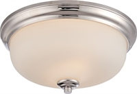 Picture for category Flush Mounts 2 Light With Polished Nickel Finish GU24 Bulb Type 13 inch 39.2 Watts