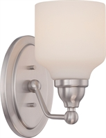 Picture for category Bathroom Vanity 1 Light With Polished Nickel Finish GU24 Bulb Type 5 inch 9.8 Watts