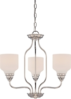 Picture for category Chandeliers 3 Light With Polished Nickel Finish GU24 Bulb Type 21 inch 88.2 Watts