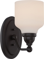 Picture for category Bathroom Vanity 1 Light With Mahogany Bronze Finish GU24 Bulb Type 5 inch 9.8 Watts
