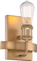 Picture for category Wall Sconces 1 Light With Natural Brass Finish Edison Incandescent 7 inch 40 Watts