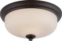 Picture for category Flush Mounts 2 Light With Mahogany Bronze Finish GU24 Bulb Type 13 inch 39.2 Watts