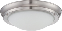 Picture for category Flush Mounts 1 Light With Brushed Nickel Finish Warm Dim Panel LED 10 inch 16 Watts