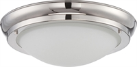 Picture for category Flush Mounts 1 Light With Polished Nickel Finish Warm Dim Panel LED 10 inch 16 Watts
