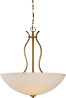 Picture for category Pendants 4 Light With Natural Brass Tones In Finished Medium Bulb Type 240 Watts