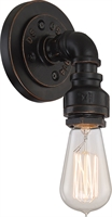 Picture for category Bathroom Vanity 1 Light With Antiqued Bronze Finish A19 Incandescent 7 inch 60 Watts