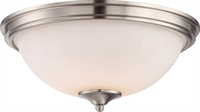 Picture for category Flush Mounts 1 Light With Brushed Nickel Finished LED Bulb Type 13 inch 18 Watts