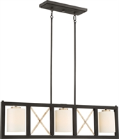 Picture for category Island Lighting 3 Light With Matte Black and Antique Silver Accents Finish Medium Base 5 inch 300 Watts