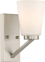 Picture for category Bathroom Vanity 1 Light With Brushed Nickel Finish Steel Medium Base 5 inch 100 Watts