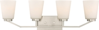 Picture for category Bathroom Vanity 4 Light With Brushed Nickel Finish Steel Medium Base 30 inch 400 Watts