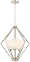 Picture for category Pendants 3 Light With Brushed Nickel Finish Steel Medium Base 20 inch 300 Watts