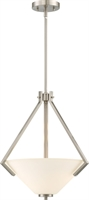 Picture for category Pendants 2 Light With Brushed Nickel Finish Steel Medium Base 16 inch 200 Watts