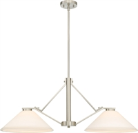 Picture for category Island Lighting 2 Light With Brushed Nickel Finish Steel Medium Base 14 inch 200 Watts
