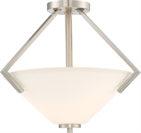 Picture for category World of Lite WOL197739 Semi Flush Brushed Nickel Steel Sadalsuud