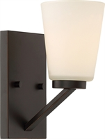 Picture for category Bathroom Vanity 1 Light With Mahogany Bronze Finish Steel Medium Base 5 inch 100 Watts