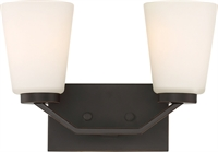 Picture for category Bathroom Vanity 2 Light With Mahogany Bronze Finish Steel Medium Base 14 inch 200 Watts