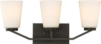 Picture for category Bathroom Vanity 3 Light With Mahogany Bronze Finish Steel Medium Base 21 inch 300 Watts
