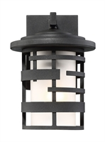 Picture for category Wall Sconces 1 Light With Textured Black Finish Steel Medium Base 7 inch 100 Watts