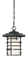 Picture for category Outdoor Pendant 1 Light With Textured Black Finish Steel Medium Base 11 inch 100 Watts